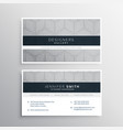 elegant gray business card design with halftone vector image vector image