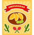 empanadas poster vector image vector image