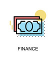 finance icon and banknote on white background vector image