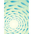 flock fish in sea vector image vector image