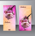 flyer with the hand drawn sakura flower vector image