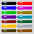 Folder icon sign Set from fourteen multi-colored vector image vector image
