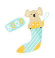 funny cute koala sitting in a sock vector image