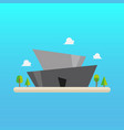 futuristic building in flat style vector image