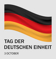 german tag der deutschen einheit concept vector image