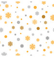 gold glittering snowflakes seamless pattern vector image vector image
