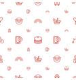 happy icons pattern seamless white background vector image vector image