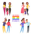 homosexual families set vector image