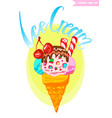 ice cream isolated vector image
