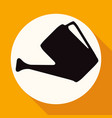 icon watering can on white circle with a long vector image