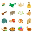 India isometric 3d icons set vector image vector image
