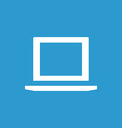 laptop icon white on the blue background vector image vector image