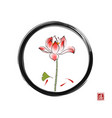 lotus flower gingko leaf and three little red vector image vector image