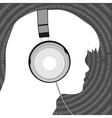 man in headphones vector image