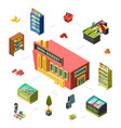 mini market concept grocery store isometric vector image vector image