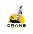 modern building construction crane logo vector image vector image