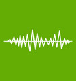 music sound waves icon green vector image vector image