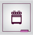oven icon simple vector image vector image