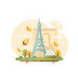 paris city skyline vector image vector image