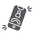 phone call glyph icon telephone and smartphone vector image vector image