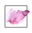 pink watercolor stain vector image vector image
