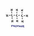 propane formula vector image
