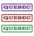 quebec watermark stamp vector image vector image