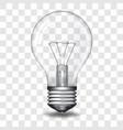 realistic light bulb vector image