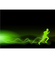 runner as rays green vector image vector image