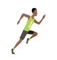 running man in flat design style sport run vector image vector image