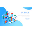 science and medicine - modern colorful isometric vector image