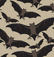 seamless halloween pattern with bat vector image