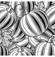 Seamless pumpkin background black and white vector image vector image