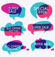 Set of sale banners design Sale paper banner Sale vector image vector image