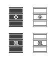 set oil barrel icon flat sign vector image