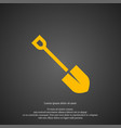 shovel icon simple gardening element symbol vector image vector image