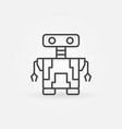 small robot concept icon in thin line style vector image vector image