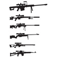 sniper weapon vector image vector image