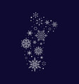 snowflake sock christmas and new year vector image vector image