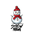 snowman logo on white vector image