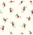 soccer players seamless pattern vector image vector image