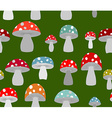 Toxic Amanita mushrooms seamless background vector image vector image