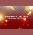 transparent light effect gold sparkling dust vector image vector image