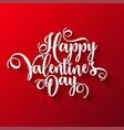 valentines day lettering handwritten romantic vector image vector image
