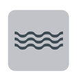 Water waves icon vector image vector image