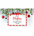 winter holiday banner vector image