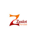 zealot fun club icon vector image