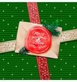 Christmas Greeting Card Merry Christmas gift box vector image
