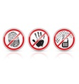 set of restrictive signs icons vector image