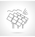 Solar power station flat line icon vector image